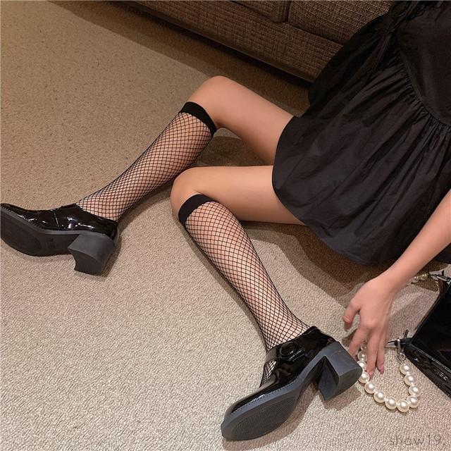 【ストッキング】無地 透かし彫り セクシー 組み合わせやすい ファッション ストッキング43552479