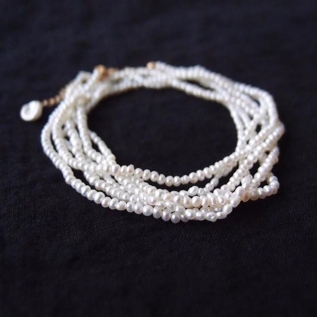 パールネックレス … Seed pearl【k14gf】三連
