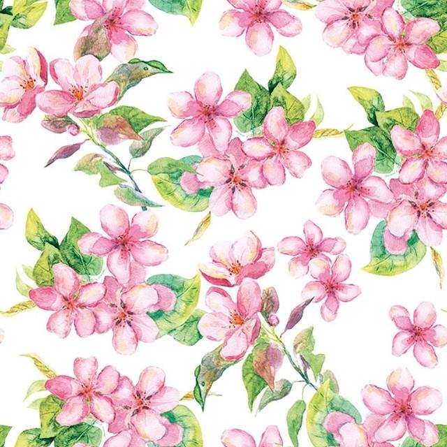 入荷しました 2020春夏【Ambiente】バラ売り2枚 ランチサイズ ペーパーナプキン CHERRY BLOSSOM ピンク
