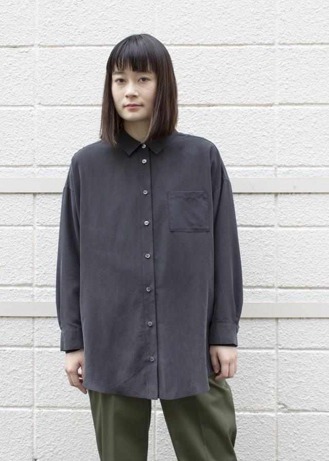 ピーチ衿抜きシャツ/ブラック No.98446782/20