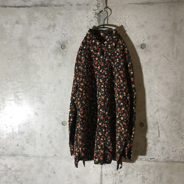 [used]mode flower design shirt