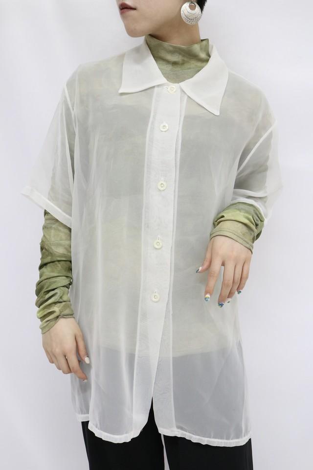see-through shirt / 5SSTP09-03