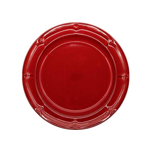 Koyo ラフィネ リムプレート 皿 約21.5cm ヴィンテージレッド 15944105