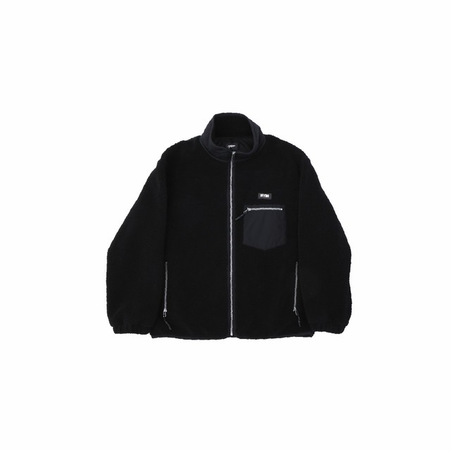 【10%OFF】Boa fleece blouson / BLACK - メイン画像