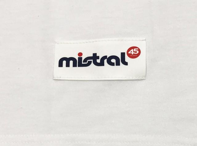 ミストラル ユニセックス[ミストラル 半袖 T シャツ - インザウェーブ -45周年記念デザイン]WHITE