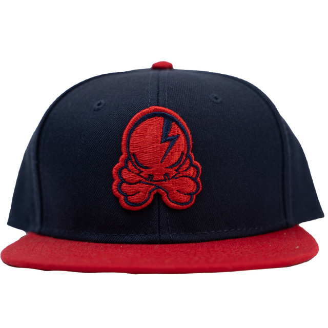 OCTOPUS SKULL CAP (Navy×Red)