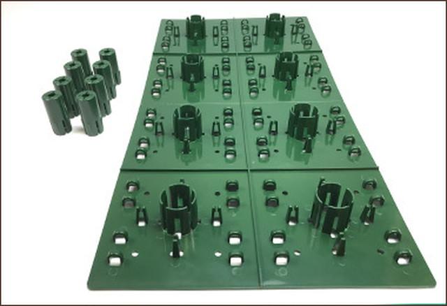 デコプラ 造花壁面緑化ベース W250×H500×8セット(1平米) フェイクグリーン