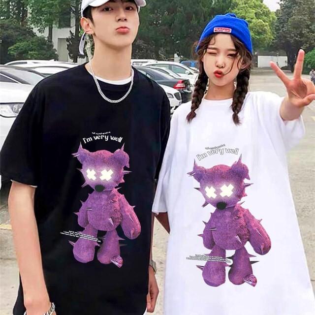 【トップス】男女兼用反射instagram人気韓国系半袖ストリート系カジュアルTシャツ43709365
