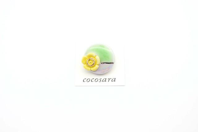 有田焼ブローチ round×flower ①