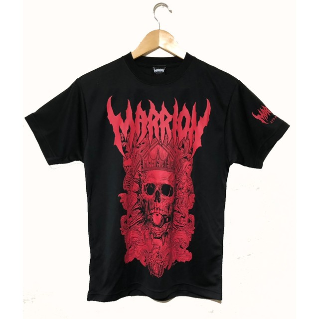 DEATH MARRION DRY TEE (Black×Red)