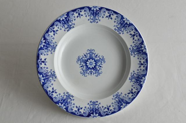 19世紀後期 ボルドー Vielliard社製 スープ皿 Rouen