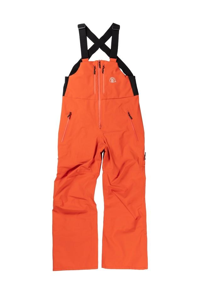 <予約商品>2021unfudge snow wear // PEEP BIB PANTS // ORANGE