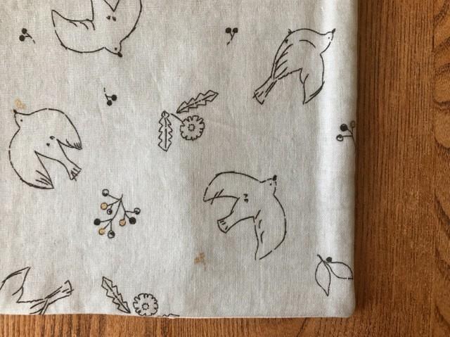 tendre / タオルとガーゼのふっくらハンカチ (ふくろうの森-イエロー)