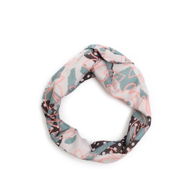 残り1点!Silk 'Sea Shells' ヘッドスカーフ/ミニスカーフ