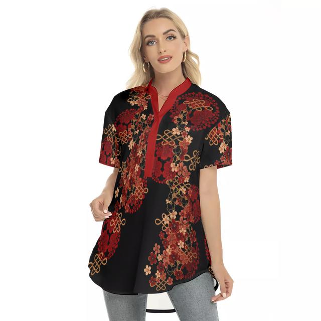 家紋と華 ゆるフィットロングシャツ 半袖