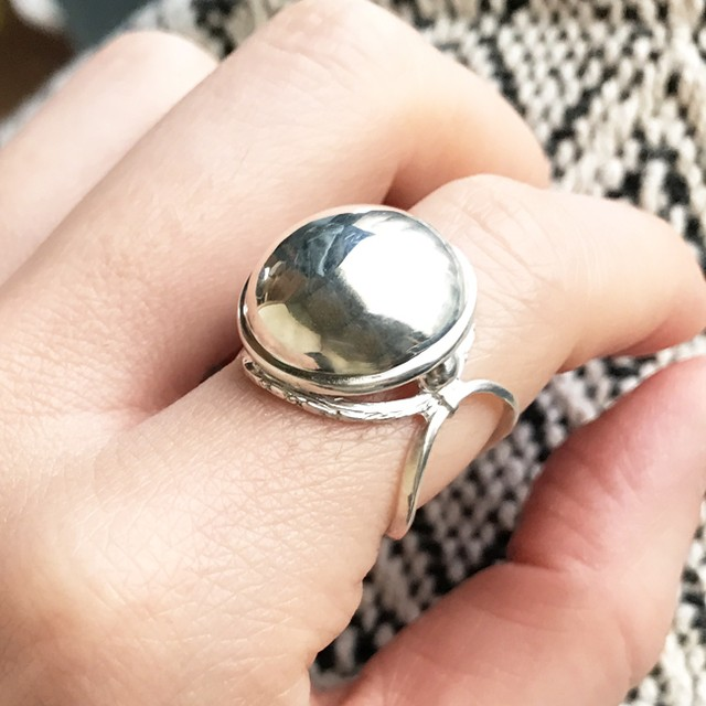 Orfevere_Shiny Moon Silver Ring