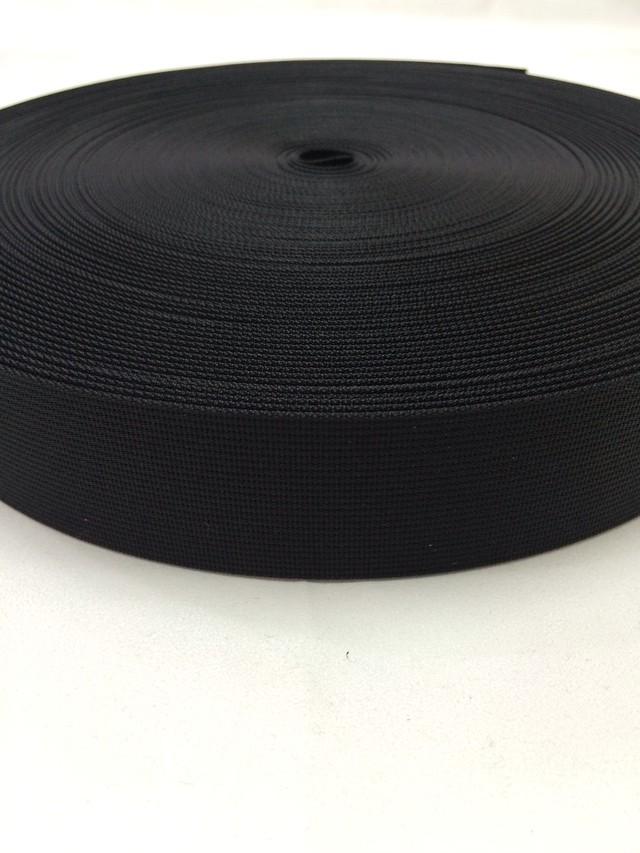 ナイロン ベルト 高密度織 38mm幅 1mm厚 黒 1反(50m)