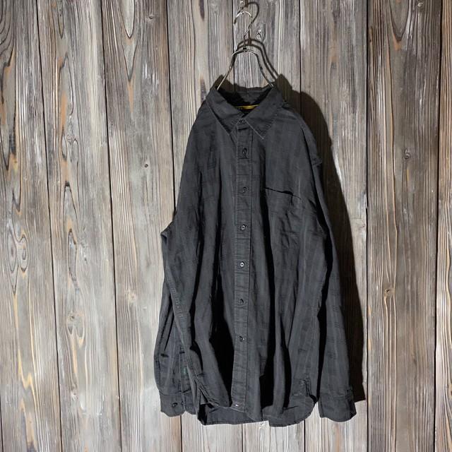 [TOMMY]thin check black  shirt