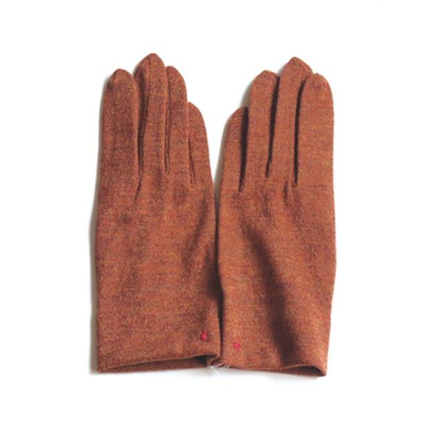佩 手袋(106 杢オレンジ) ウール100% 手が細くキレイに見える