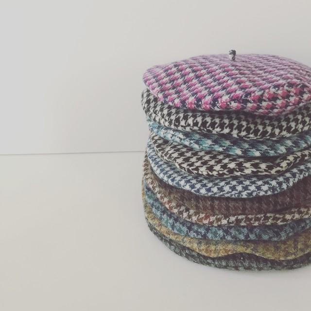 【お教室】千鳥格子ベレー帽