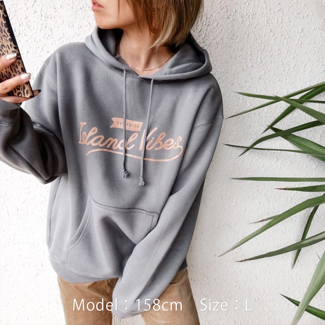 ISLAND VIBES Hoodie - Cement
