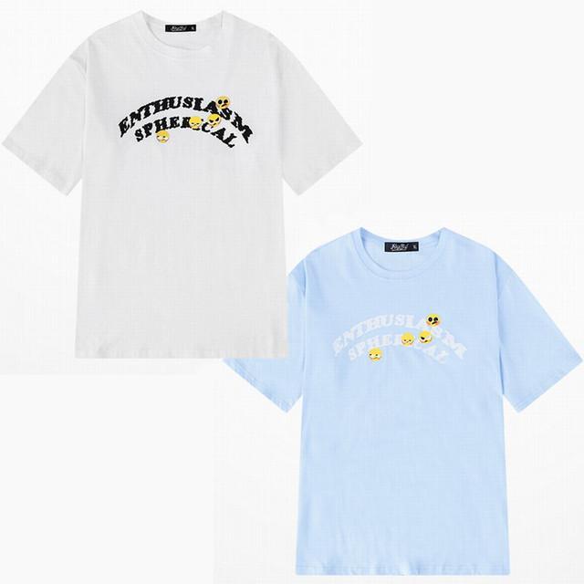 ユニセックス 半袖 Tシャツ メンズ レディース 英字 スタンプ プリント オーバーサイズ 大きいサイズ ルーズ ストリート TBN-610938343490