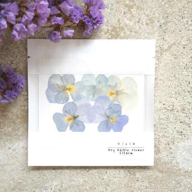 【87farm】食べられる押し花(ビオラ ヘブンリーブルー)