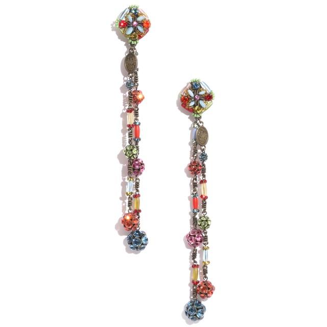 mulch color beads イヤリング2 043