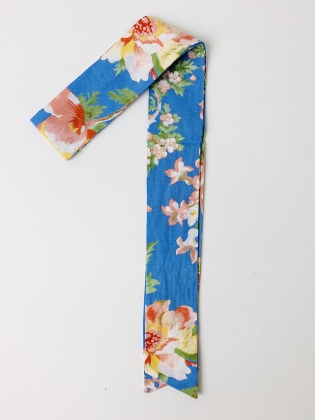 【セール】スカーフチャーム フラワー ライトブルー