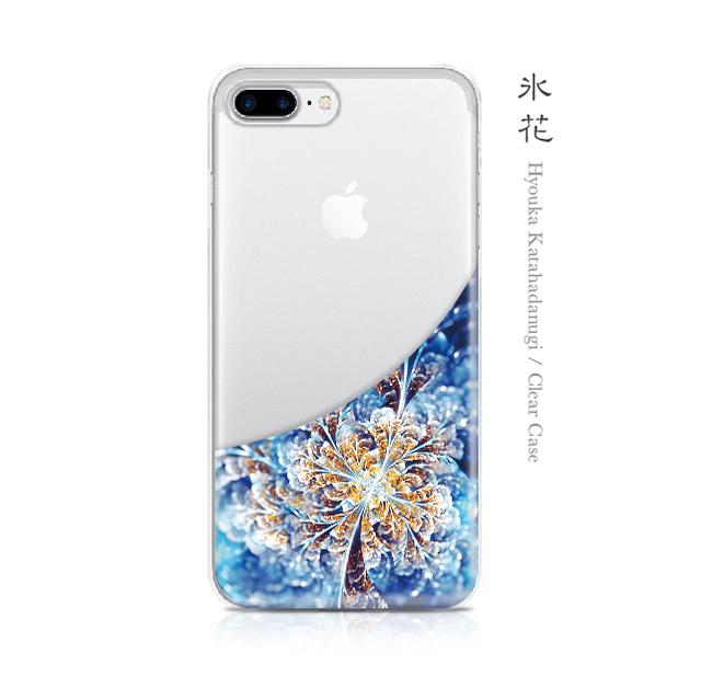 氷花 - 和風 iPhone クリアケース