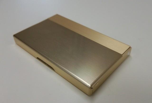 アルミニウム製名刺カード入れ ブルー色