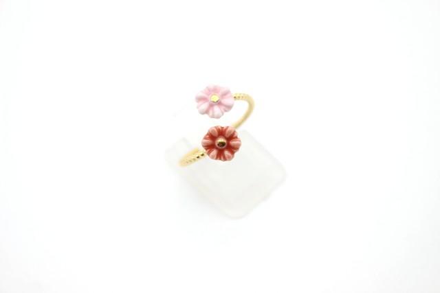 有田焼フォークリング 花×花 2