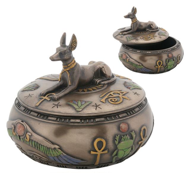 YTC8265 エジプシャンエジプト アヌビス神 小箱 Egyptian Anubis jewelry box置物・小箱・古代エジプト