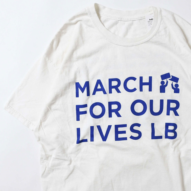 【Mサイズ寸】 MARCH FOR OUR LIVES LB TEE 半袖Tシャツ WHITE 400601191094