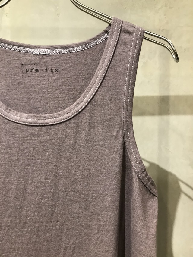 pre-fix  object dyed tank top - matured greige