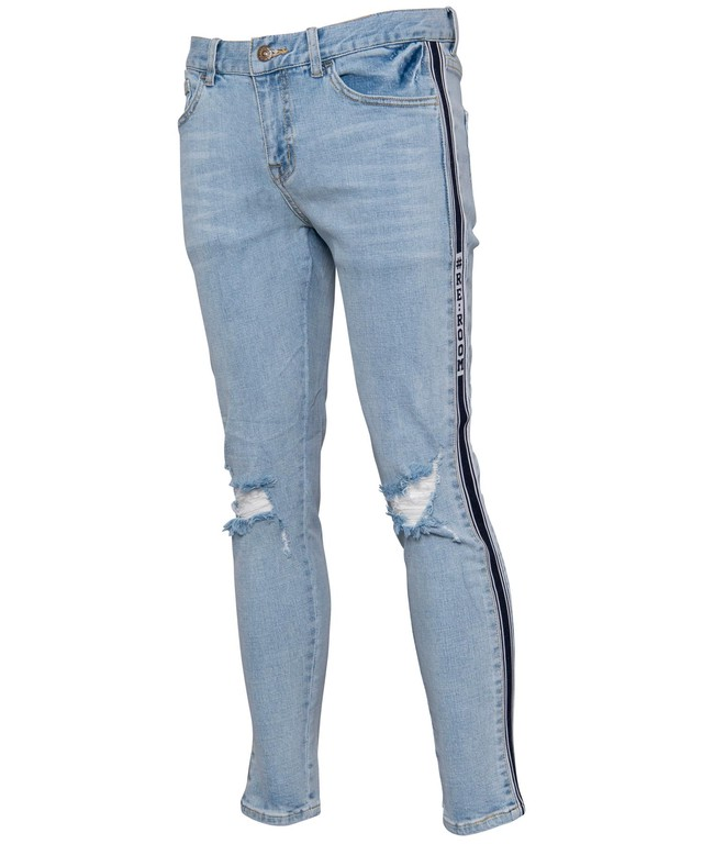 SIDE LINE VINTAGE SKINNY DENIM[REP074]