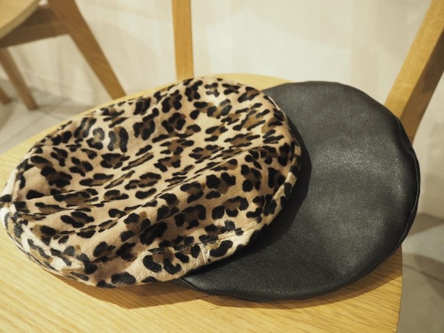 Leather piping Beret  [B-35]