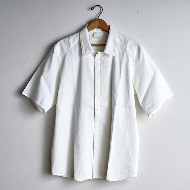 山内 デッドストック・ストレッチリネンシャツ white