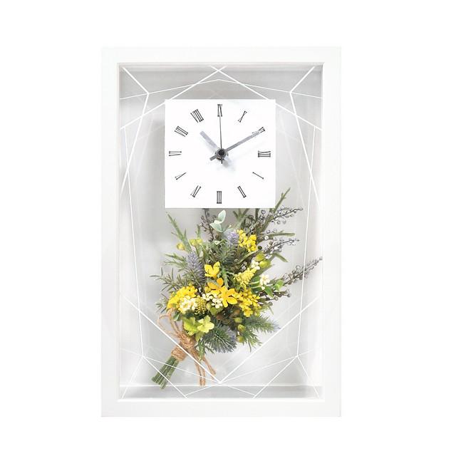 お花プリントフォトフレーム時計「牡丹」