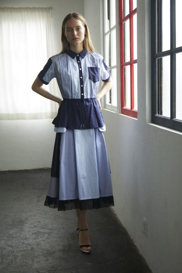 【2021SS先行受注アイテム】TYPEWRITER COMPLEX SHIRT DRESS