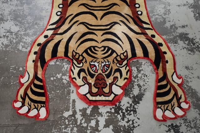 Tibetan Tiger Rug 《Lサイズ•シルクNIGOモデル071》チベタンタイガーラグ