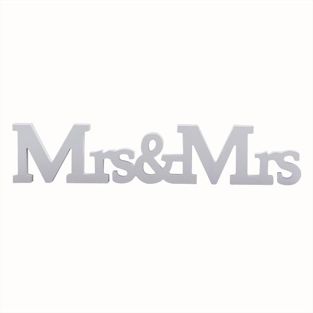 Mr And Mrsホワイトの木製オブジェ/ウェディング小物/パーティーグッズ【..by6sense】