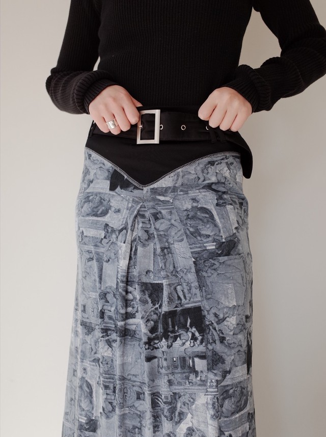 used Painting long skirt