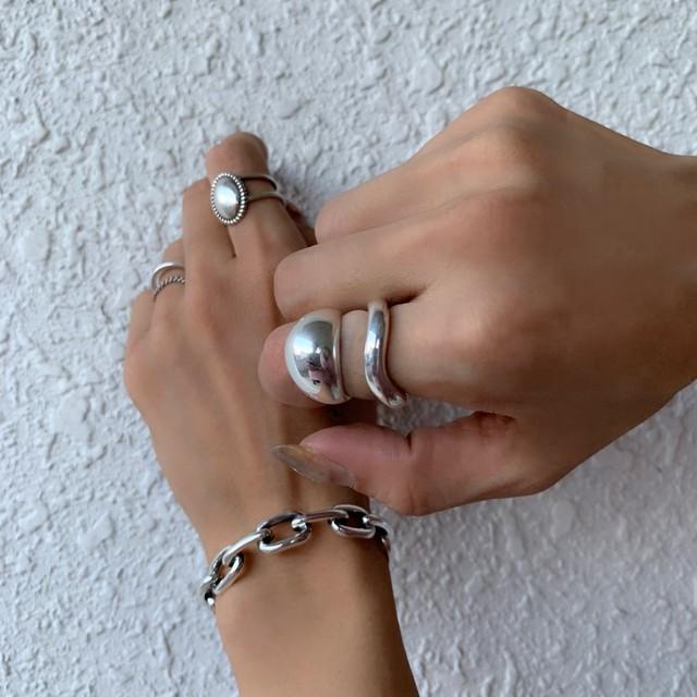 Primarasoriginal Silver925drop motif リング