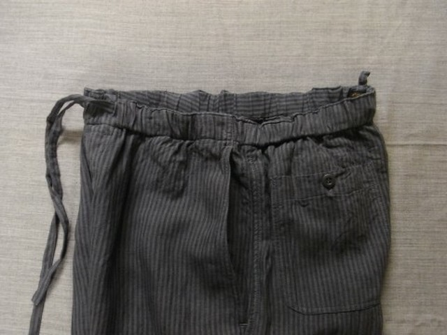 stripelinen easy pants / greystripe