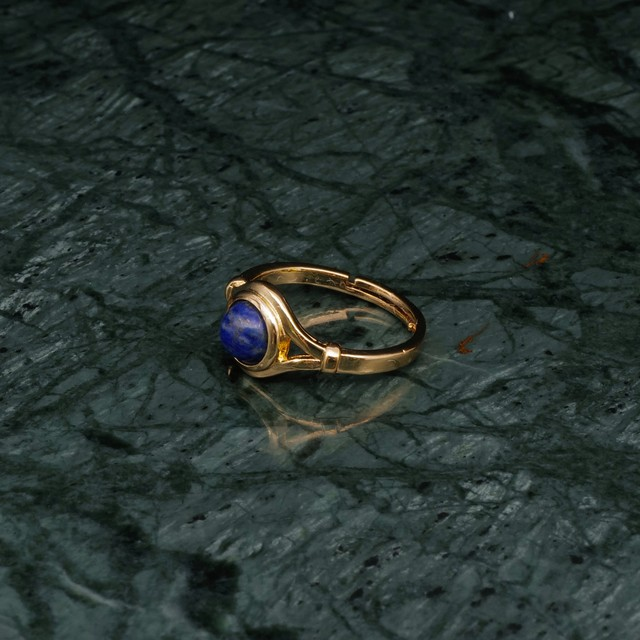 SINGLE MINI STONE DECO RING GOLD 002