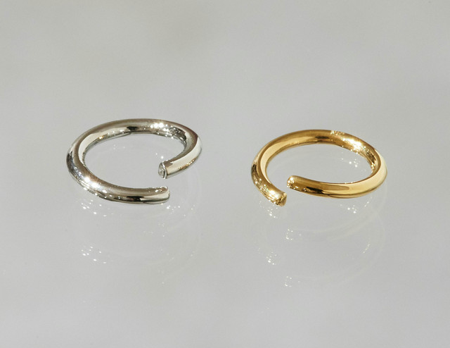 ring body jewelry 16G 10mm #LJ18049P  K18 Yellow Gold, K18 Pink Gold, Pt
