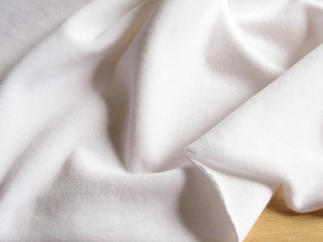 綿混ニット・ベルベット スノーホワイト NTM-2161