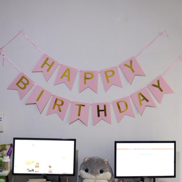 1/11販売開始【即納】138 バースデーガーランド フラッグ おしゃれ 可愛い イベント 赤ちゃん 子供 ベビー 誕生日
