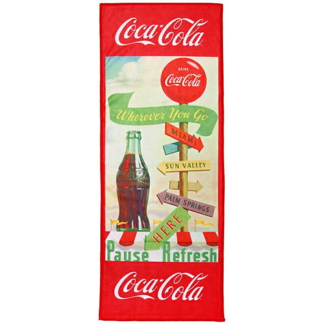 マイクロファイバースポーツタオル 【コカコーラ】【cocacola】